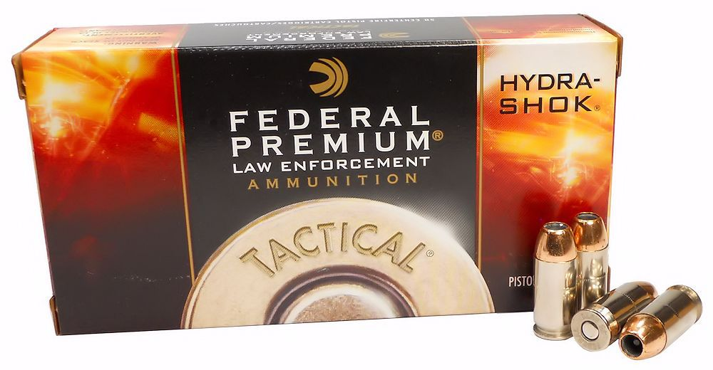 Federal Law Enforcement 45 ACP Auto 185 Grain +P Hydra-Shok Jacketed Hollow Point