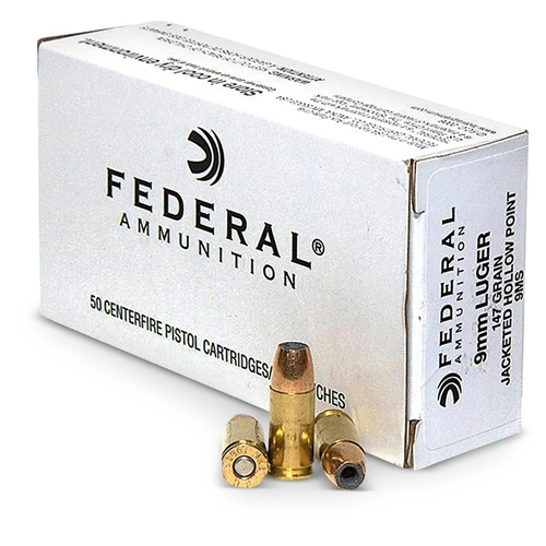 Federal LE 9mm Luger Ammo 147 Grain Jacketed Hollow Point