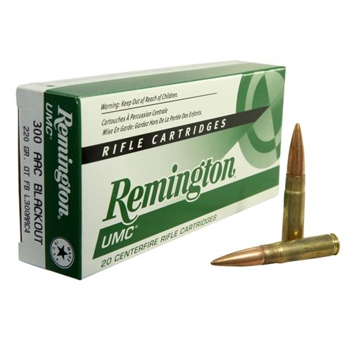Remington UMC 300 AAC Blackout Ammo 220 Grain Open Tip Flat Base