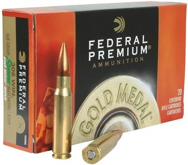 Federal Gold Medal 308 Win 168 Grain Sierra MatchKing Hollow Point