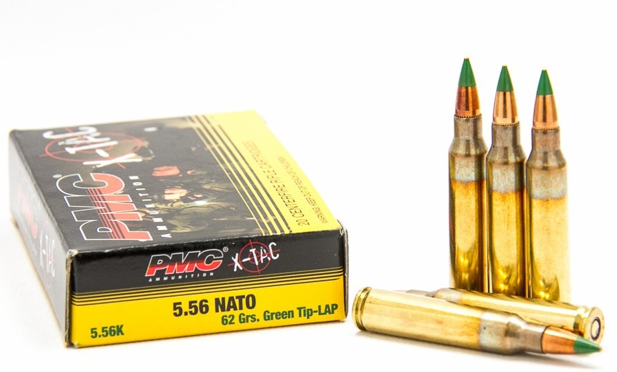 PMC X-Tac 5.56mm Ammo M855 62 Grain Green Tip Full Metal Jacket