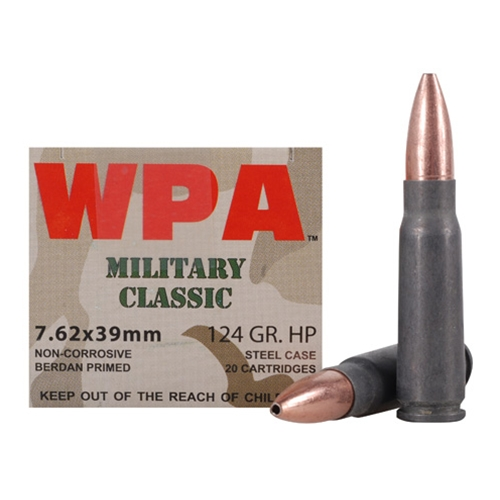 Wolf Military Classic 7.62x39mm 124 Grain JHP 1000 Rounds