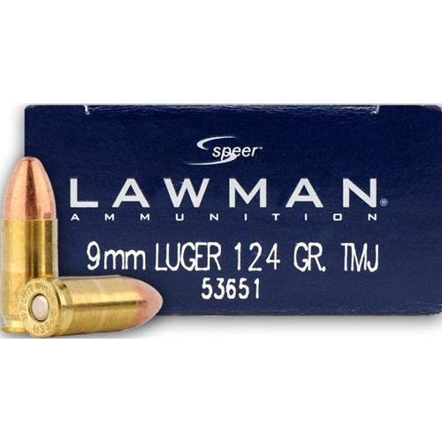 Speer Lawman 9mm Luger Ammo 124 Grain Total Metal Jacket