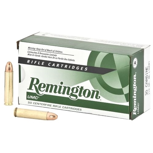 Remington UMC 30 Carbine Ammo 110 Grain Full Metal Jacket