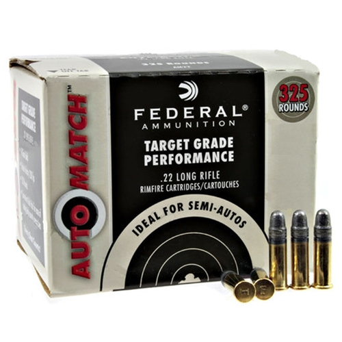 Federal AutoMatch 22 Long Rifle Ammo 40 Grain Lead Round Nose 325 Rounds