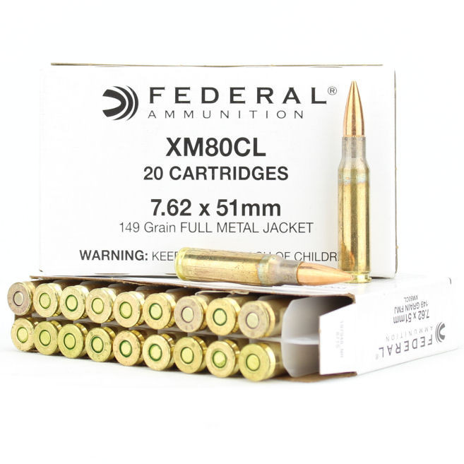 Federal Lake City 7.62x51mm NATO Ammo 149 Grain Full Metal Jacket