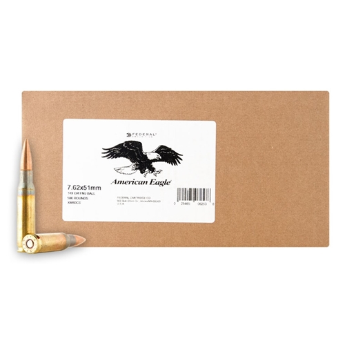 Federal Lake City 7.62x51mm 147 Grain FMJ Bulk 500 Rounds