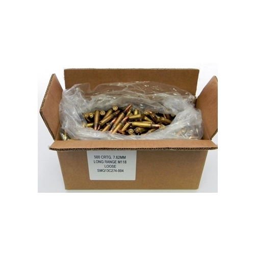 Federal Lake City XM118 7.62x51mm 175 Grain Match Hollow Point Bulk 500 Rounds