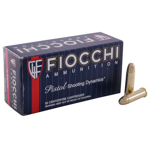 Fiocchi Shooting Dynamics 38 Special Ammo 125 Grain Complete Metal Jacket