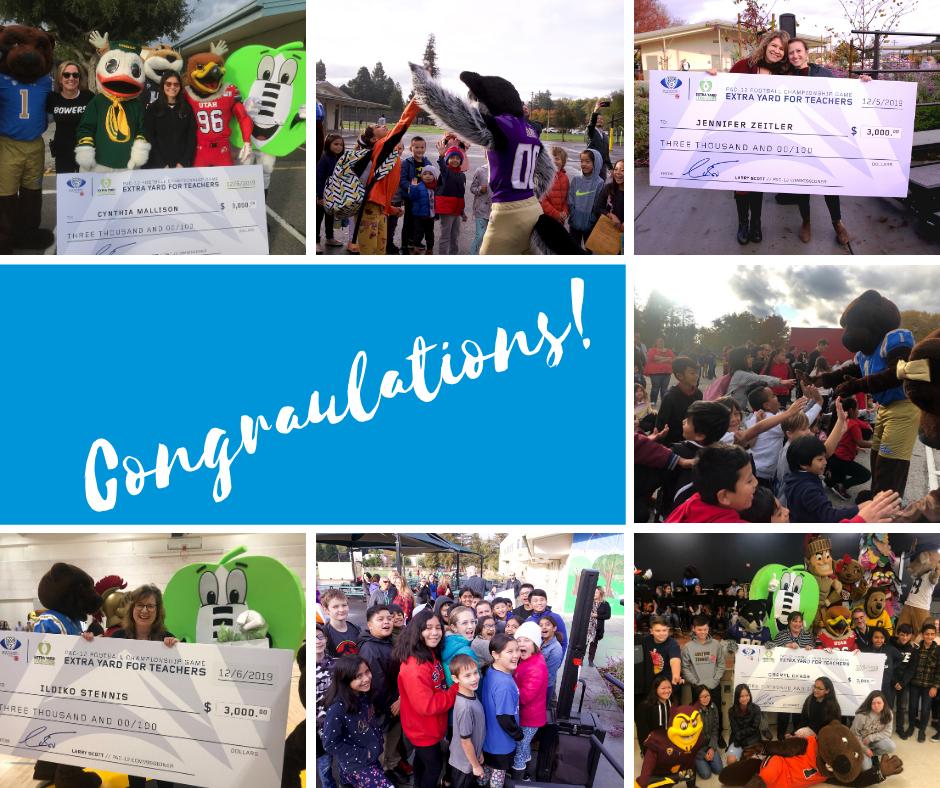 Congratulations: Teachers receive checks from Pac-12