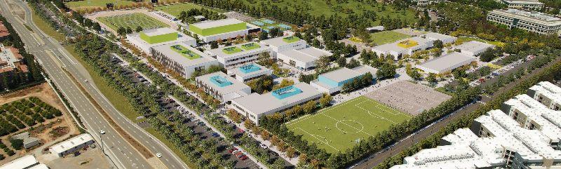 Aerial Rendering of Agnews Campus