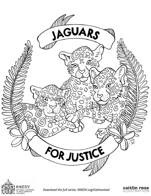 Coloring page - Jaguars for Justice