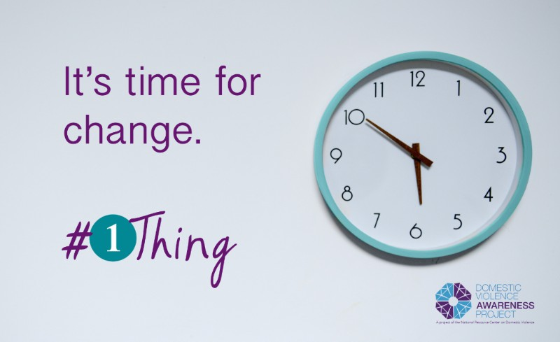 It's time for change. #1Thing