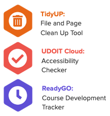 TidyUP, UDOIT Cloud, ReadyGO
