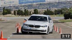 BMW 530d Touring 2017 - Maniobra de esquiva (moose test) y eslalon