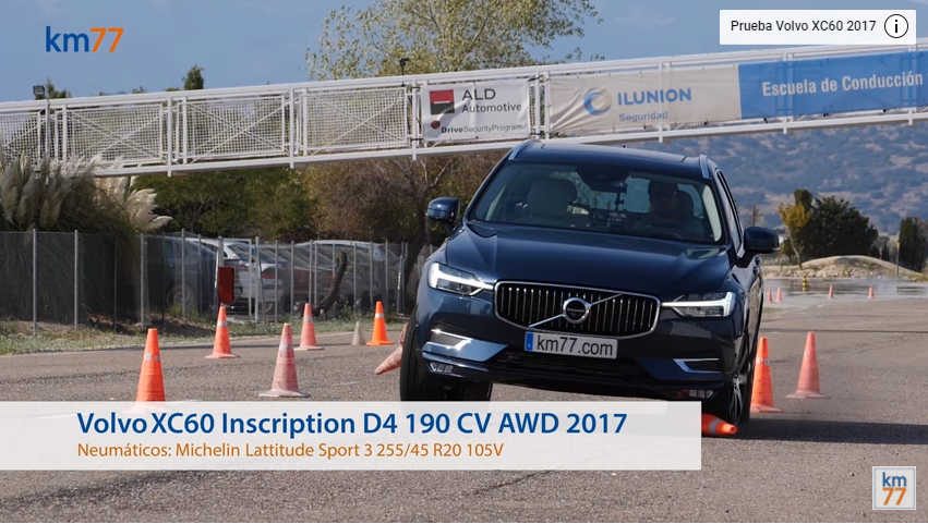 Volvo XC60 2017 - Maniobra de esquiva (moose test) y eslalon
