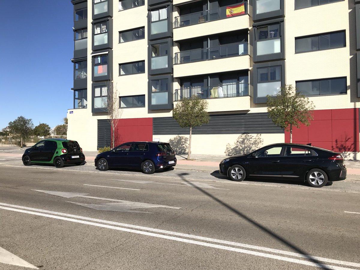 sesión de fotos con tres eléctricos: VW e-Golf, Hyundai IONIQ y smart forfour