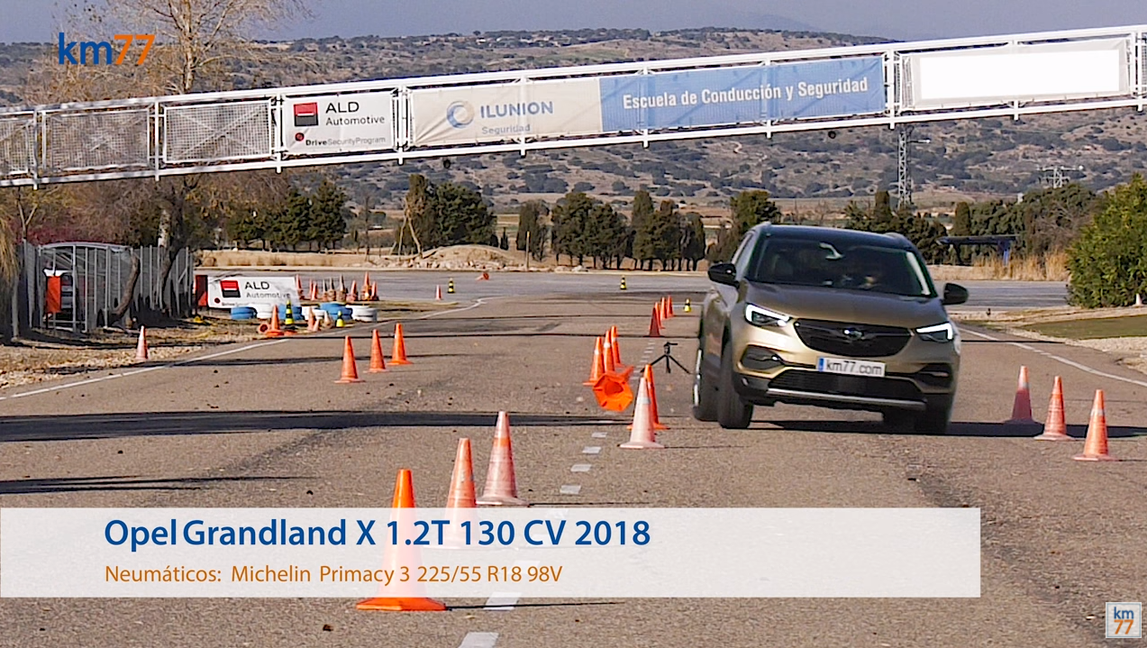 Opel Grandland X 2018 - Maniobra de esquiva (moose test) y eslalon