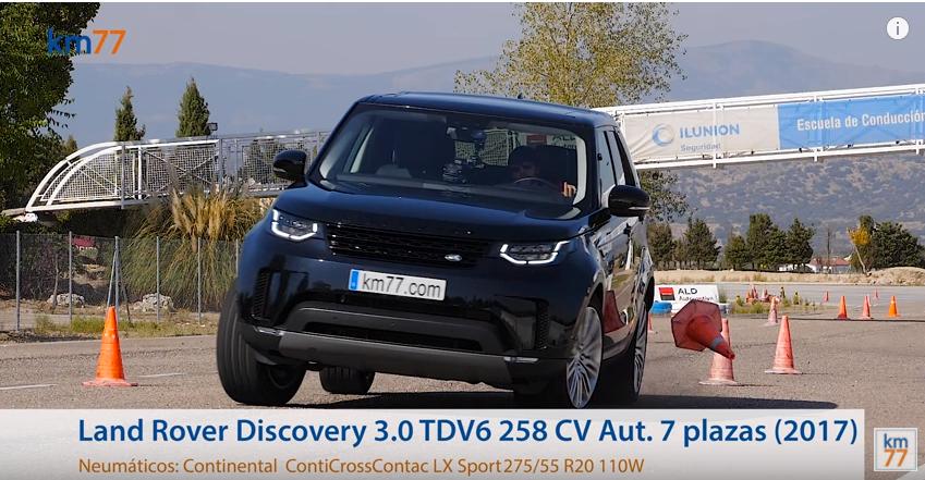 Land Rover Discovery 2017 - Maniobra de esquiva (moose test) y eslalon