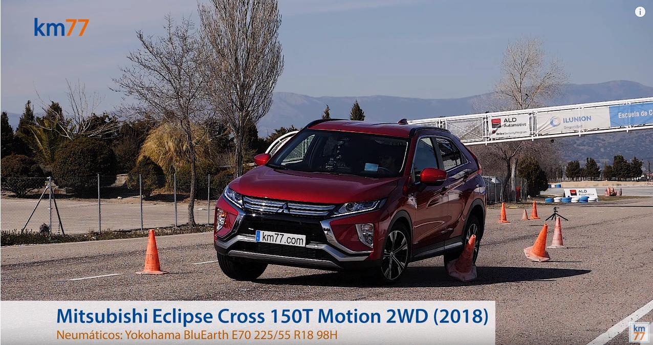 Mitsubishi Eclipse Cross 2018 - Maniobra de esquiva (moose test) y eslalon, en el siguiente vídeo.
