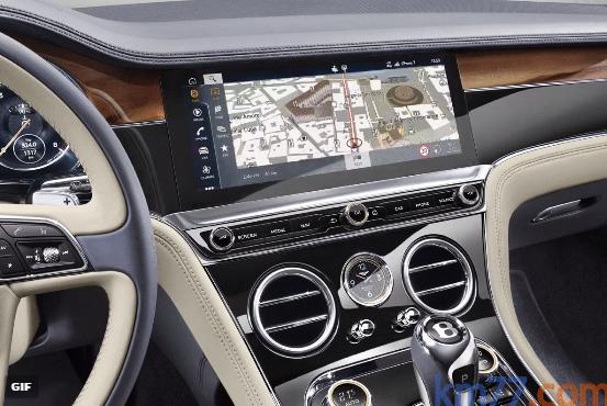 Bentley Continental GT Coupé 2018. La consola tiene una pieza que se puede girar y da lugar a tres configuraciones: