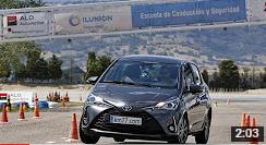 Toyota Yaris 2017 - Maniobra de esquiva (moose test) y eslalon
