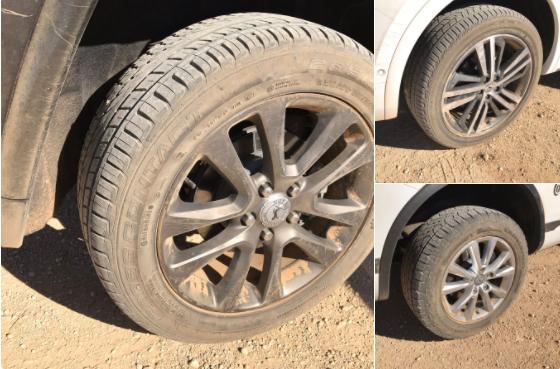 Tres ruedas de la gama todoterreno Continental CrossContac: