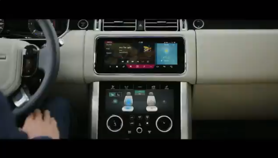 El sistema de infoentretenimiento del Land Rover Range Rover 2018 se denomina «Touch Pro Duo» y está asociado a dos pantallas táctiles de 10 pulgadas.