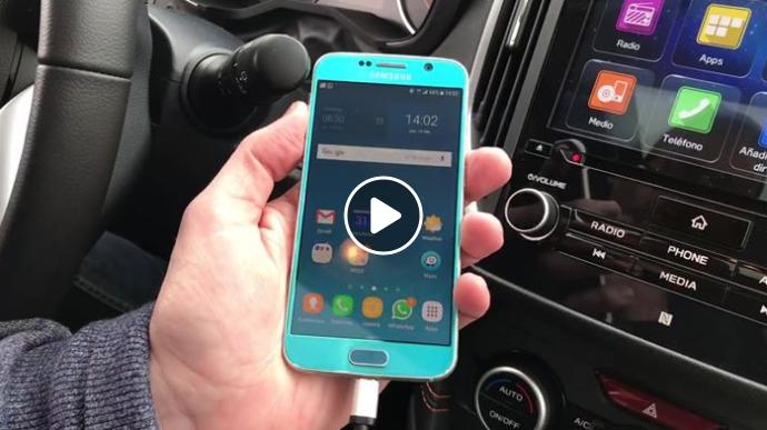 ¿Sabías que con Android Auto se puede usar Waze como navegador? Aquí te mostramos un ejemplo de cómo se ve en la pantalla del Subaru XV.