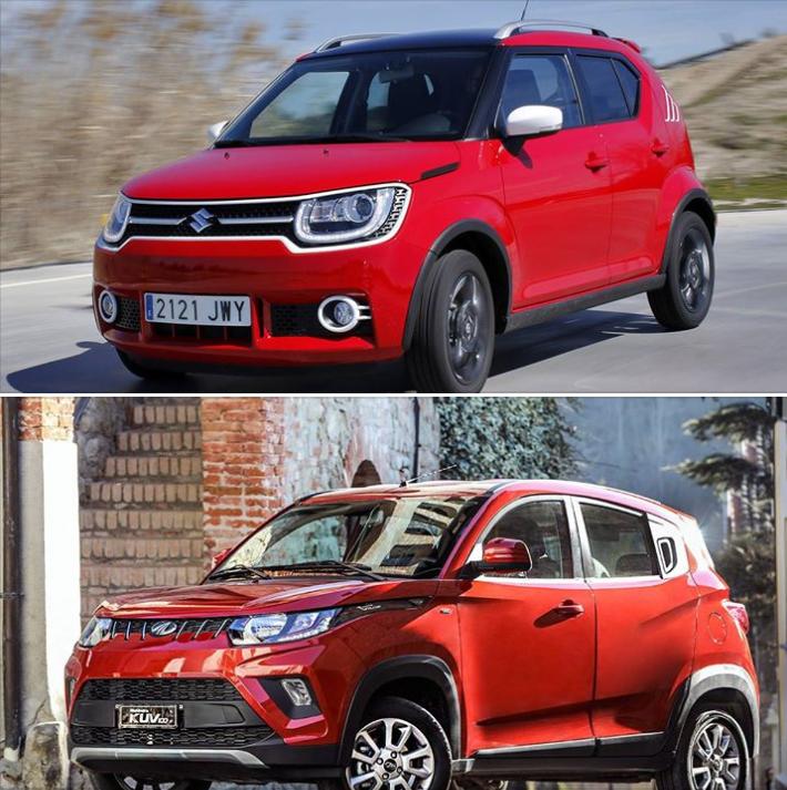 Ficha comparativa del Mahindra KUV100 —el todoterreno (o SUV) más barato del mercado— con el Suzuki Ignis.