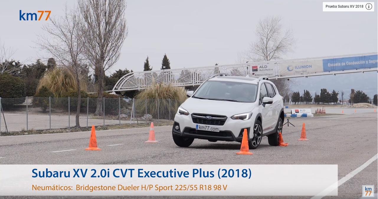Subaru XV 2018 - Maniobra de esquiva y eslalon