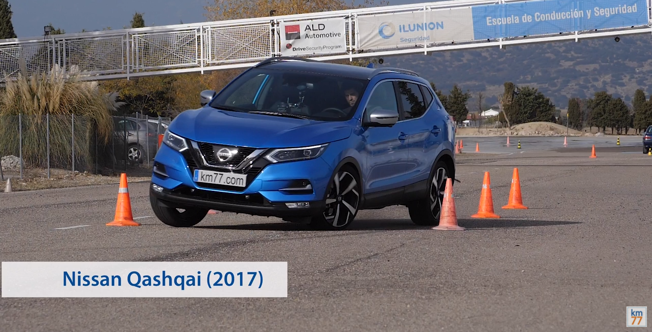 Nissan Qashqai 2017 - Maniobra de esquiva (moose test) y eslalon