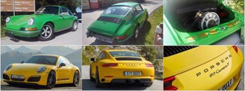 Porsche 911 T 2.4 con 130 CV de principios de los años 1970 y Porsche 911 Carrera T 3.0