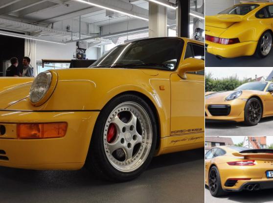 Entre estos dos Porsche 911 Turbo S hay 25 años de diferencia.
