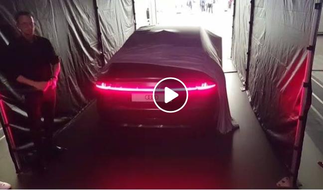 Coreografía de luces del nuevo Audi A7 Sportback