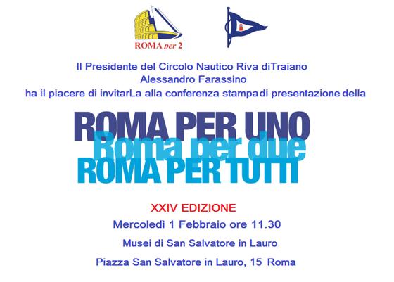 Roma per 1/per 2/per Tutti  – Circolo Nautico Riva di Traiano, appuntamento il 9 aprile 2017