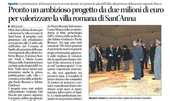 Pronto un ambizioso progetto da due milioni di euro per valorizzare la villa romana di Sant'Anna