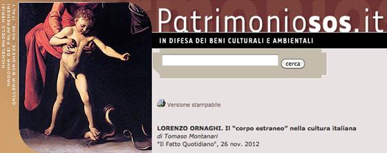 """Lorenzo Ornaghi. Il """"corpo estraneo"""" nella cultura italiana"""