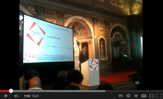 Lorenzo Ornaghi all'apertura del Forum Internazionale dei Beni Culturali e Ambientali Biennale Florens 2012