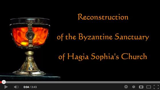 Reconstruction of the Byzantine Sanctuary of Hagia Sophia's Church