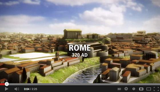 A flyover ancient Rome (530AD)