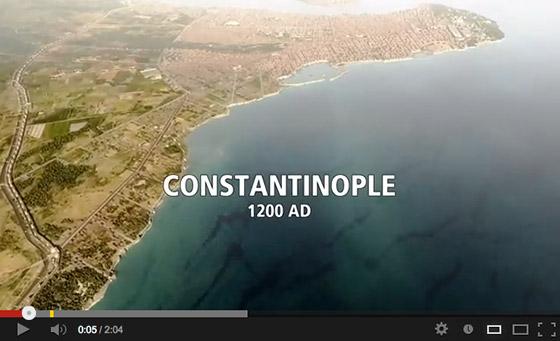 A flyover Constantinople (1200AD)