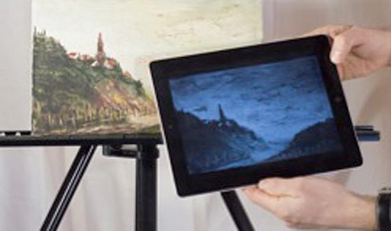 iPad e tablet per l'indagine multispettrale di opere d'arte