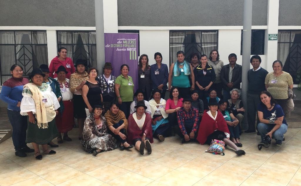 National Assembly of grassroots women of Ecuador toward Habitat III.  Photo Credit MANUELA PINILLA