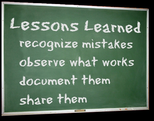 Lessons Learned Process