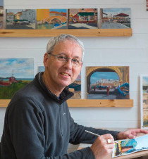 Colin Joyce in his studio