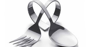 fork spoon in heart