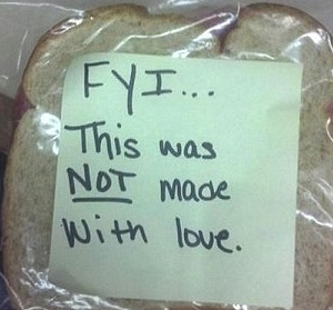 sandwich not made with love