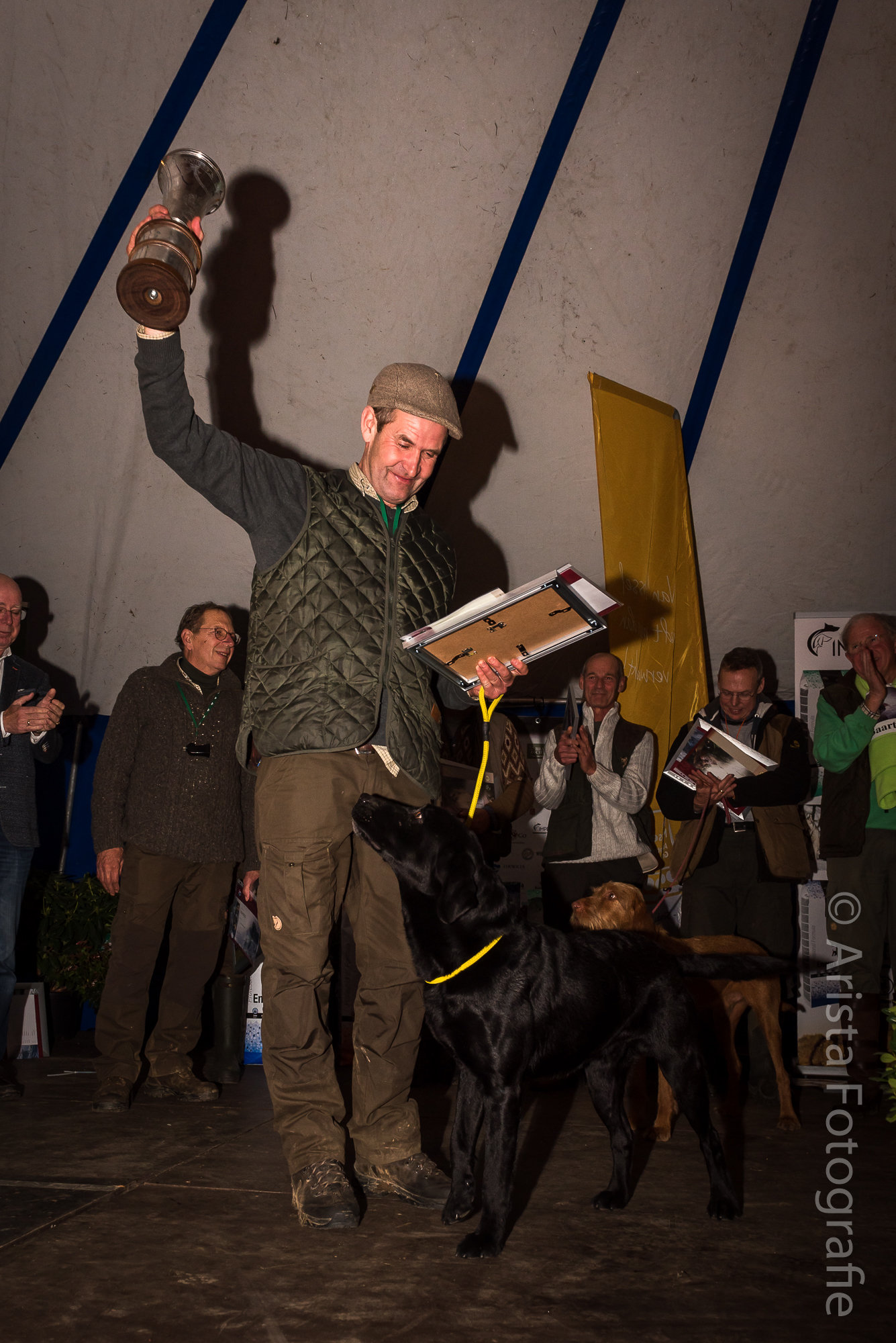 Nimrod 2017 winnaar Wilfred Schenk wint met Labrador Retriever James