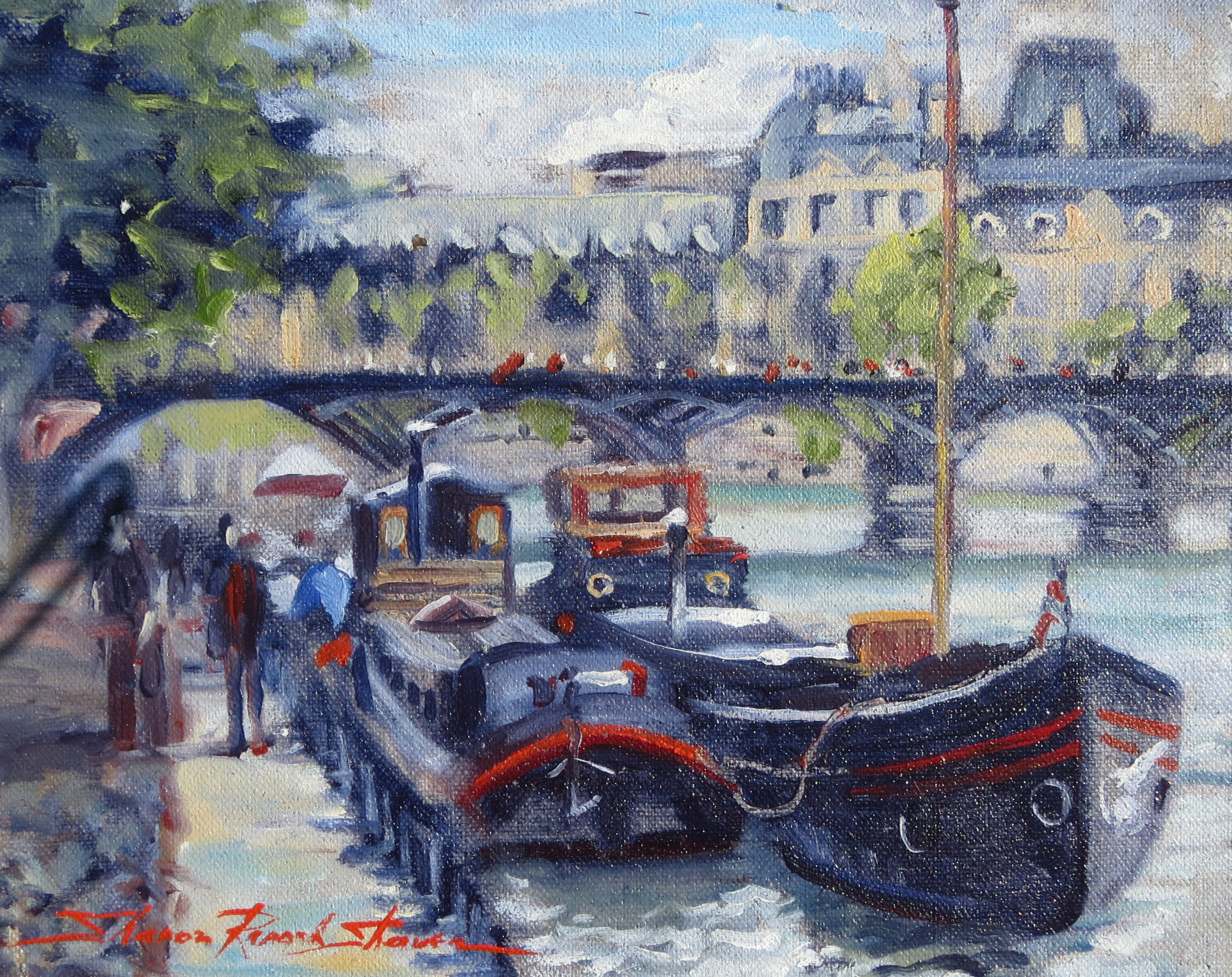 The Seine River  Oil on Canvas  Copyright 2013 SRS